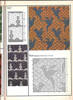 Машинное вязание - жаккард #40