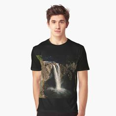 Snoqualmie Falls, Vivid Colors, Female Models, Waterfall, How To Make, How To Wear, Sleeves, Mens Tops, Cotton