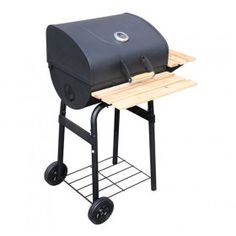 Outsunny New Trolley Charcoal BBQ Barbecue Grill Patio Outdoor Garden Heating Heat Smoker - Barbecue Grill, Grilling, Bbq Wood, Charcoal Bbq Grill, Black Garden, Rattan Furniture, Outdoor Parties, Shelving, Patio