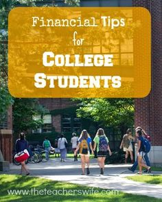 FINANCIAL TIPS FOR COLLEGE STUDENTS. College is such a unique time in ones life. While you might think all the learning comes from textbooks and lecture halls, there are so many lessons a college student can learn about money that could set them up for financial success for life. It's never too early to get started!