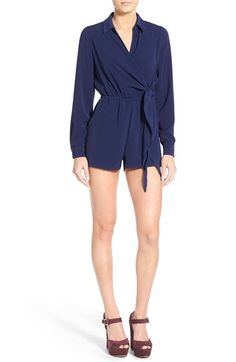 Missguided Wrap Front Romper available at #Nordstrom