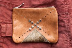 Nomad Tan Leather Coin Purse