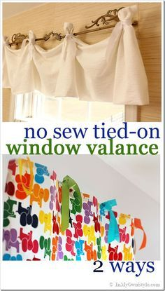 30 Minute No Sew Window Treatment Two Ways. Update your window treatments with this quick idea.