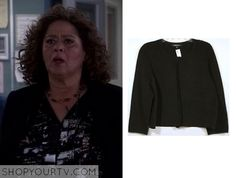 Nurse Jackie: Season 7 Episode 6 Gloria's Black Ribbed Jacket