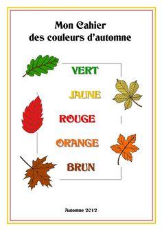Cahier des couleurs d'automne (Présentation)