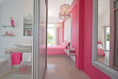 I hope my future girls like pink as much as I do so I can give them this sweet pink room!