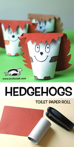 HEDGEHOGS – toilet paper roll (krokotak) Diy Paper Crafts diy crafts with paper towel rolls Paper Towel Roll Crafts, Towel Crafts, Paper Towel Rolls, Paper Plate Crafts, Towel Paper, Bee Crafts For Kids, Diy For Kids, Easy Crafts, Hedgehog Craft