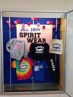 New 2015 spirit wear display - The world's most private search engine Pta School, School Store, School Fundraisers, Class Displays, School Displays, School Spirit Wear, Spirit Store, Office Christmas, Christian School