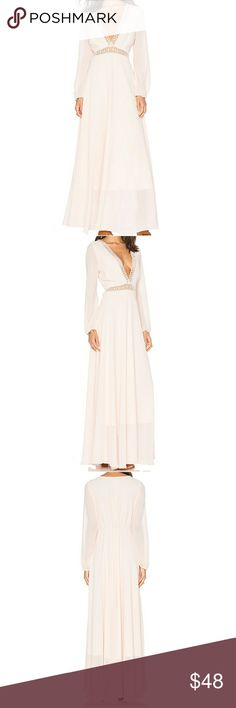 """Lucy Paris Floral Maxi Dress - Long Sleeve Maxi - Condition: NWT  - Color: Blush / Light Pink - Fully lined  - Lace trim - Cinched waist - Poly blend - Hidden zipper closure  Measurements:  - US 6-8 - bust: 35-36"""" - waist: 28-29"""" - hips: 39-40"""" - length: 59""""   Don't like the price? Send me and offer! Offers welcomed through offer button only ?  NO TRADES! NO ????! NO ?eRc! lucy paris Dresses Maxi"""