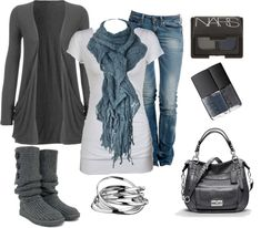 """"""" boot, style, blue, cozy clothes, fall outfits, winter outfits, closet, black, bags"""