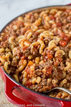 Old Fashioned Goulash - The same American goulash recipe that you grew up with. A hearty recipe that the entire family can enjoy any night of the week.