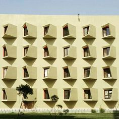 Students hostel in Mathura city in India by Sanjay Puri Architects