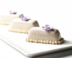 White chocolate Lavender Petit Gateaux recipe in my new book Bachour Chocolate…
