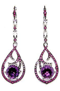 Stephen Webster Weird Jewelry, Jewelry Art, Vintage Jewelry, Fine Jewelry, Jewellery, Stephen Webster, Purple Reign, Red Earrings, Fantasy Jewelry