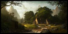 General 1600x817 Andree Wallin mill mountain artwork fantasy art landscape concept art