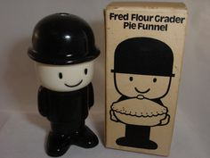Vintage Pie Bird Fred the Flour Grader Pie Funnel Vent Bird made in England Rare. $45.00, via Etsy.