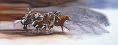 """""""Wolves of the Crow"""" by Bev Doolittle"""