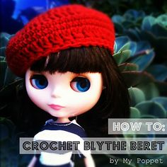 I crocheted Perty this beautiful raspberry beret and thought you may like the instructions to make your own…
