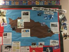 Island of the Blue Dolphins bulletin board 4th Grade Ela, 4th Grade Classroom, 4th Grade Reading, Classroom Fun, Reading Lessons, Reading Fair, Social Studies Activities, California History, Literature Books