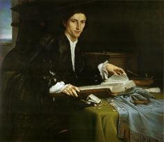 Portrait of a Gentleman in his Study - Lorenzo Lotto