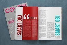 Free PSD Mockup - 4K Magazine on Behance