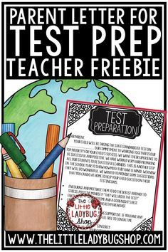 Grab this free parent letter for test prep. If your students are getting ready to take the state tests, you may be wondering what you can do to help them prepare. Luckily, there are a number of things you can do, read more. Letter School, Letter To Teacher, Letter To Parents, Parent Letters, Reading Test, 3rd Grade Reading, Third Grade, Fourth Grade, Upper Elementary Resources