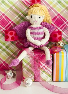 Ravelry: #19 Fairy Doll pattern by Susan B. Anderson - one-piece, top-down, seamless doll! Knit Simple Holiday 2012