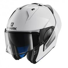 Casco SHARK EVO-ONE BLANK White azur