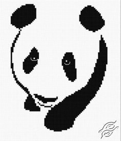 Panda II - Free Cross Stitch Pattern