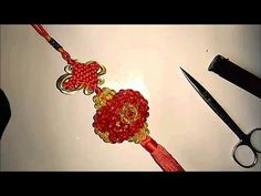 How to bead funny accessory: lantern 1/2 - YouTube