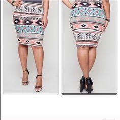 Aztec printed skirt nwot Aztec printed skirt Skirts Mini