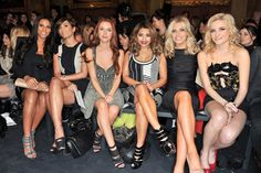 Rochelle Humes and The Saturdays front row at the Julien MacDonald during London Fashion Week show