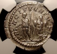 NGC AU 5/5-5/5 GETA. fine style. PRINCE OF YOUTH.  Very rare Roman Coin.Superb