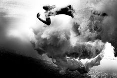 Underwater surfing turbulence. Photo by Brian Bielmann