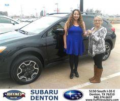 https://flic.kr/p/D1mu4a | Happy Anniversary to Lupita on your #Subaru #XV Crosstrek from Bill Klozik at Huffines Subaru Denton! | deliverymaxx.com/DealerReviews.aspx?DealerCode=XDJB