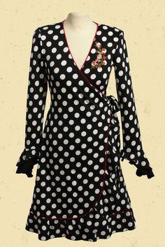 Wikkeljurk Polkadot geweldige jurk