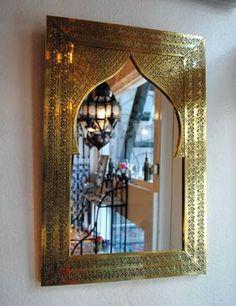 GADAN > インテリア・家具 > ミラー > モロッコ「モスク」ミラー ゴールド