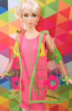Barbie Vintage Francie Mod Clear Pazam Coat