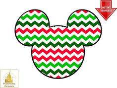 Chevron Mickey Mouse Christmas Ears I'm Going to Disney World Family Vacation T Shirt Iron On Transfer DIY Custom Printable Personalized