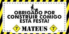 B-DAY Mateus  Trabalho: identidade visual aniversário Ano: 2015 Inspiração: Máquinas