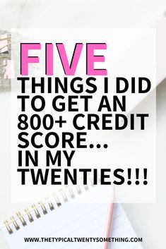 credit score tips 5 Things I Did in My Twenties To Get an 800 Credit Score, How I got an 800 credit score by how to build credit score fast. loans, finance, how to raise credit score, how to increase your credit score Building Credit Score, Check Your Credit Score, Free Credit Score, Improve Your Credit Score, Best Credit Cards, Ways To Build Credit, Career Quotes, Budget Planner, Finance Tips