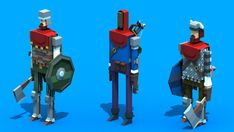 Random Low-Poly Characters by Rodrigo Oliveira, via Behance