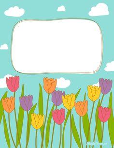 Cubierta cuaderno. Tulipanes