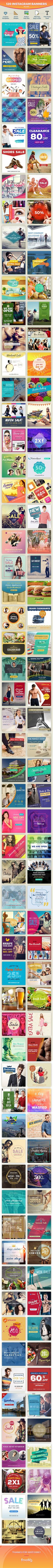 Instagram Banners Bundle - Social Media Web Elements
