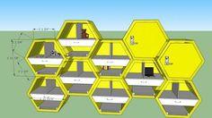 Locker - hexagon