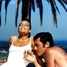 "#RomySchneider as Marianne and #AlainDelon as Paul in ""La Piscine"" (1969)"