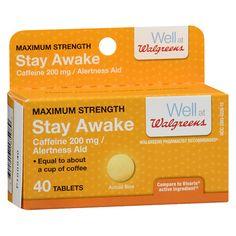 Walgreens Stay Awake Max Strength Tabs - 40 ea
