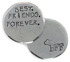 Crosby & Taylor - pewter token - Best Friends Forever