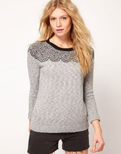 Sweater with Lace Pattern