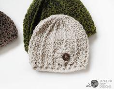 Free Crochet Beanie Pattern – Swirl Hat